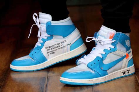 Off White X Air Jordan 1 Powder Blue Unc •