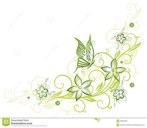 ranken bloemen ranke schmetterling stock illustrationen vektors