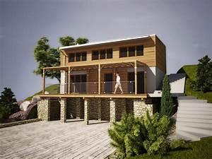 Projekt rodinného domu ve svahu