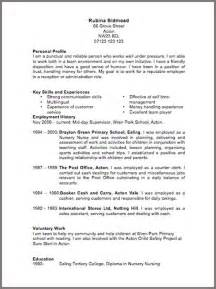 resume exles uk cv template 6 resume cv