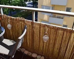 Sichtschutz Fuer Balkon : bambus balkon sichtschutz gestaltung ideen im feng shui stil ~ A.2002-acura-tl-radio.info Haus und Dekorationen