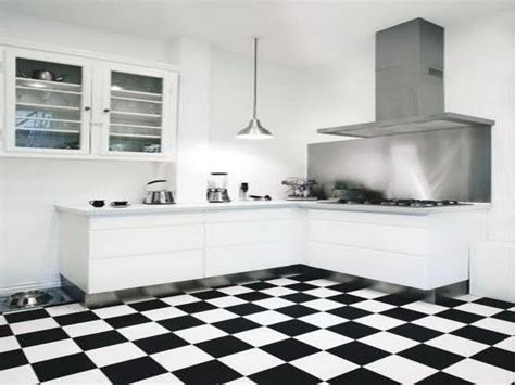 black and white tiled kitchen kitchen black and white kitchen floor tiles with cabinets stainless hood black and white