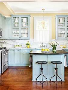23 gorgeous blue kitchen cabinet ideas With kitchen colors with white cabinets with blue flower canvas wall art