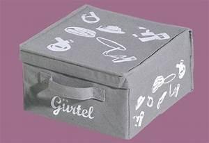 Aufbewahrungsbox Mit Deckel Stoff : aufbewahrungsbox g rtel box mit deckel stoff grau m ~ Watch28wear.com Haus und Dekorationen