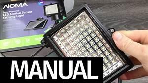 Setup Noma Solar Powered Led Motion Sensor Security Light