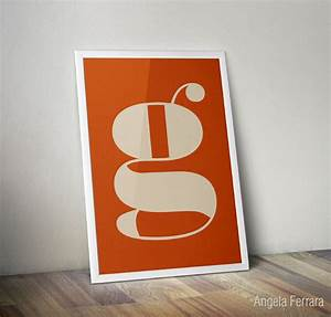 custom letter poster personalized print wall art office poster With personalized letter wall art