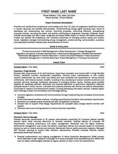 Resource Management Resume by Human Resources Manager Resume Template Premium Resume Sles Exle
