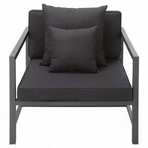 Fauteuil Jardin Aluminium : fauteuil de jardin en aluminium anthracite ithaque maisons du monde ~ Teatrodelosmanantiales.com Idées de Décoration