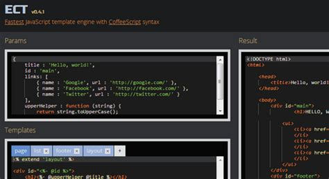 Javascript Templating Engine December 2012 Functionn
