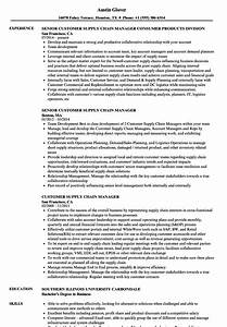 customer supply chain manager resume samples velvet jobs With supply chain coordinator resume sample