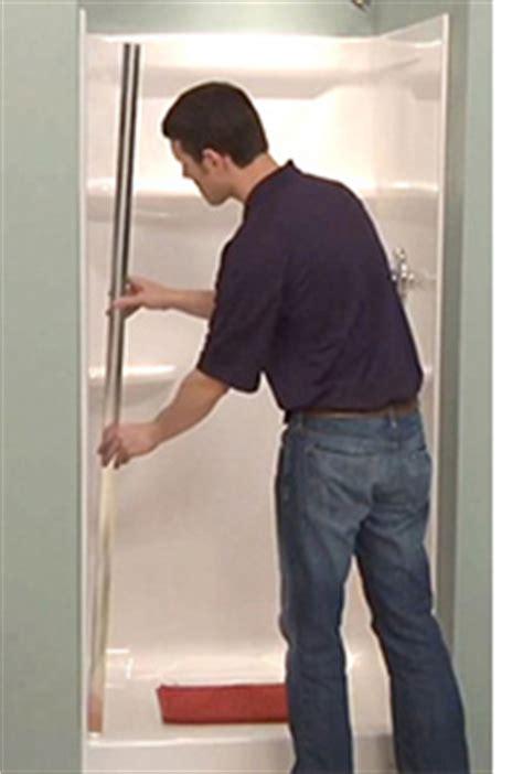 shower door installation pivot sliding tub