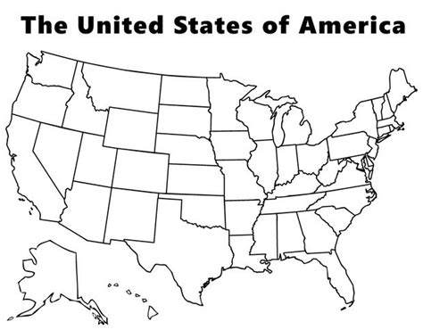 map   usa coloring pages hellokidscom