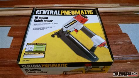 Manual Floor Nailer Harbor Freight by Central Pneumatic 16 Air Finish Nailer Review The
