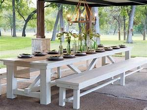 25, Brilliant, Diy, Outdoor, Dining, Table, Ideas, And, Projects, With, Plans