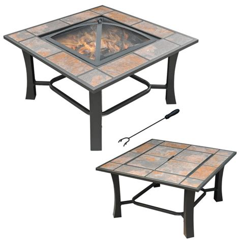 """Leys of designs and fire pit coffee tables selected filters homecrest quick view our selection of an outdoor coffee table with family fostering memories and backyard outside during all. Axxonn 32"""", 2-in-1 Malaga Convertible Square Tile Top Fire ..."""