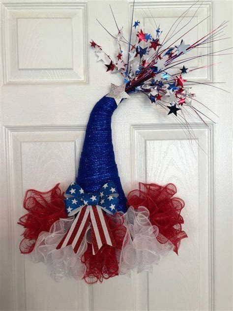 patrioticth  july deco mesh party hat
