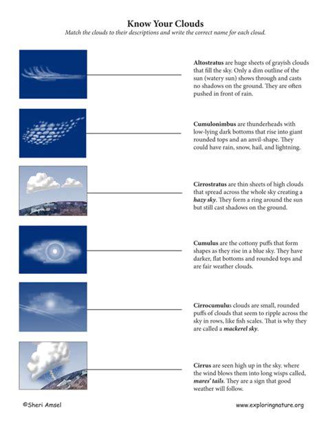 cloud matching activity exploring nature educational