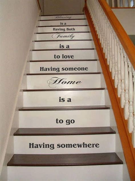 family blessing stair riser decals stair decals