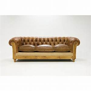 Canape chesterfield 3 places cuir bicolore mon chalet design for Tapis de course avec canapé chesterfield cuir vieilli