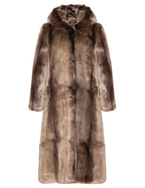 manteau interieur fausse fourrure fabulous furs manteau fausse fourrure avec capuche navabi
