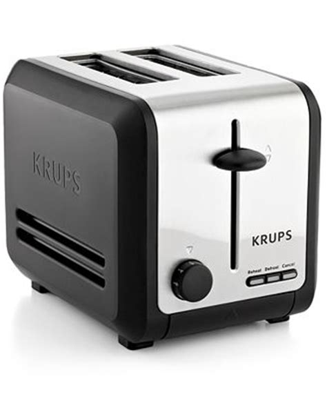 krups 2 slice toaster krups kh742d50 definitive series stainless steel 2 slice