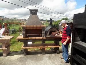 Barbecue Four A Pizza : barbecue en pierre reconstituee avec four ~ Dailycaller-alerts.com Idées de Décoration