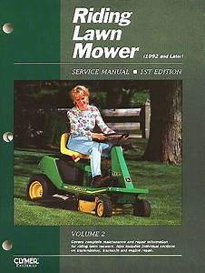 Repair Manual Riding Lawn Mower 1992