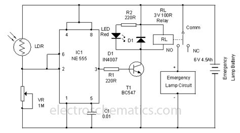 emergency lamp battery protector