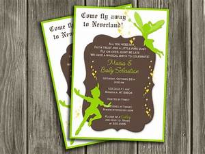 printable peter pan and tinkerbell inspired baby shower With peter pan invitation template