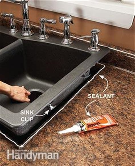 how to seal a kitchen sink replace a sink the family handyman 8898