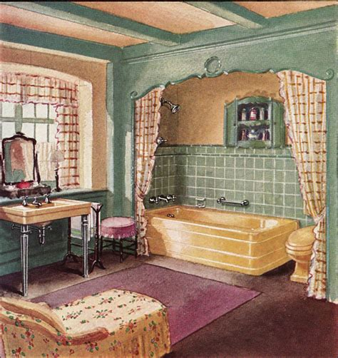 1930 Homes Interior by 1930 Crane Bathroom Yellow Plum And Green Were A