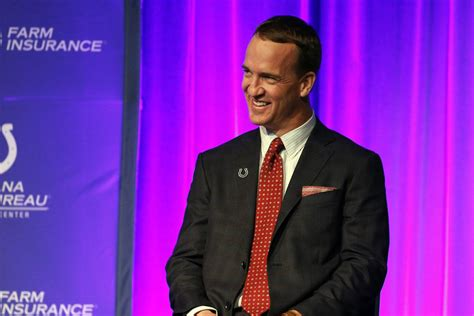 Peyton Manning Sports Colts Super Bowl Ring As He Receives