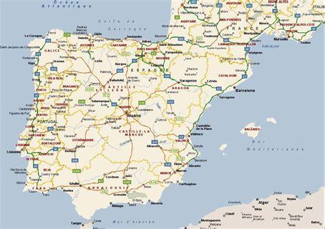 Carte Portugal Espagne by Carte Espagne Portugal Voyages Cartes
