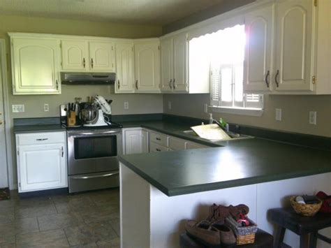 green countertops kitchen newlywed hares how to paint your countertop 1364