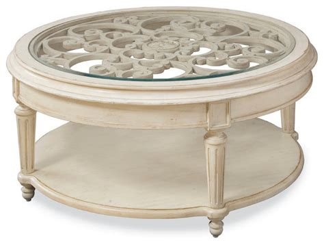 round coastal coffee table a r t furniture provenance round cocktail table beach