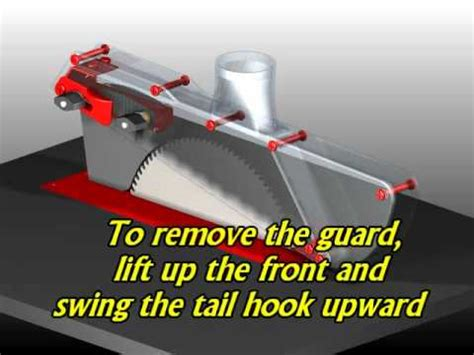 table saw splitters and blade covers sgk1 splitter equipped table saw blade guard youtube