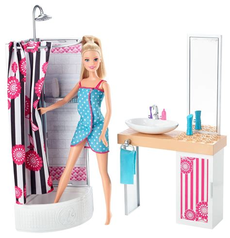 Deluxe Bathroom Barbie Getting Into The Shower C
