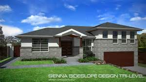 tri level home tri level sideslope design 27 squares home design tullipan homes