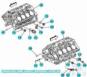 Chevy Tahoe Engine Block Plugs   Sensors Components Vortec V8