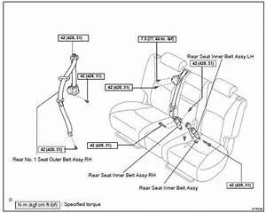 Toyota Highlander Service Manual  Rear No 1 Seat Belt