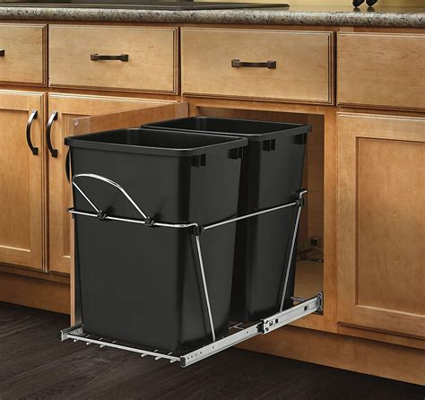 kitchen cabinet trash pull out pull out trash garbage can waste container kitchen cabinet