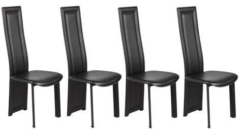 chaise noir pas cher lot de 4 chaises en pvc noir pas cher chaise design