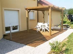 pergola terrasse en bois With terrasse avec pergolas bois