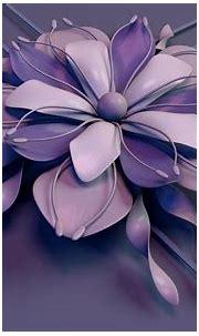 Abstract flower - Beautiful purple 3D flower Wallpaper ...