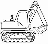 Excavator Coloring Pages Printable Caterpillar sketch template