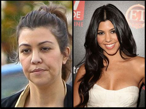 These with and without makeup pictures if the Kardashians ...