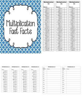 math multiplication fast facts   johnson tpt