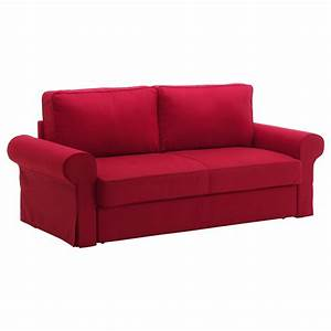 Canap Convertible Velours Rouge