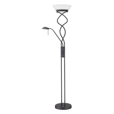 Shop Kendal Lighting 72 In Black Torchiere With Reading