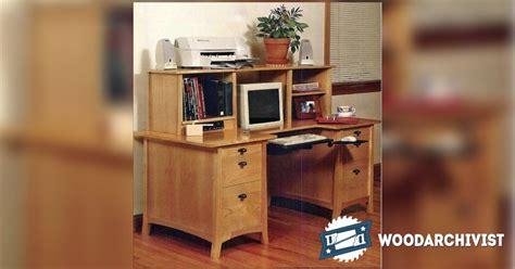 computer desk plans woodarchivist